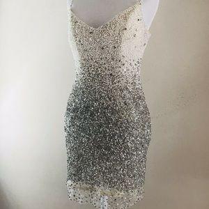 Cotoure bejeweled short prom dress